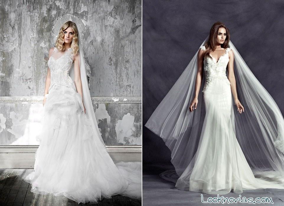 vestidos con bordados de Pallas Couture