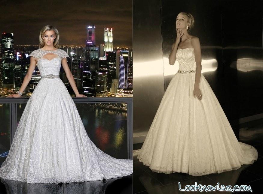 Vestidos con bordados para novias elegantes