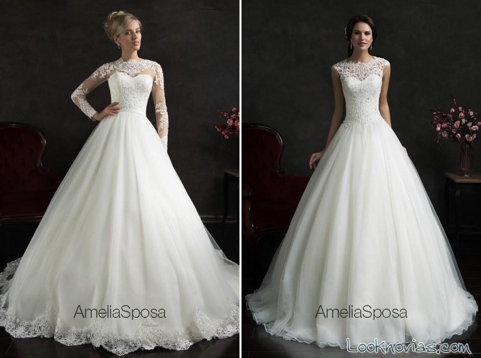 vestidos con escotes de encaje amelia spose