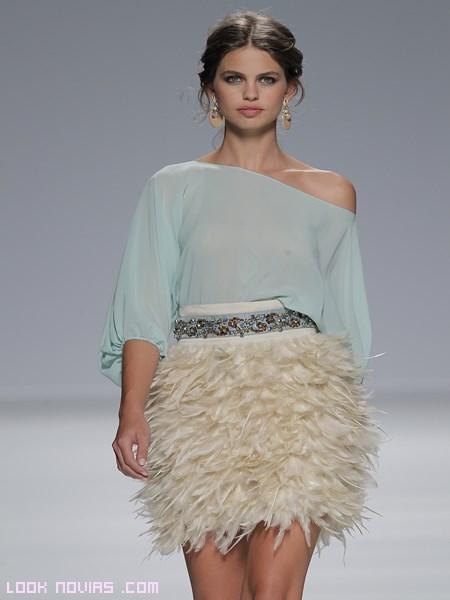 vestidos cortos en tonos pastel