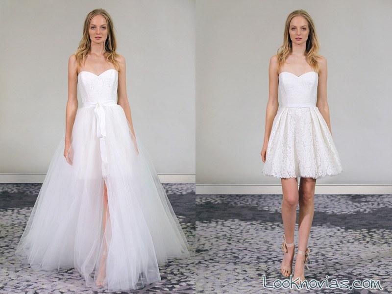 vestidos cortos de alyne bridal