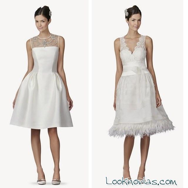 vestidos cortos de novia 2014