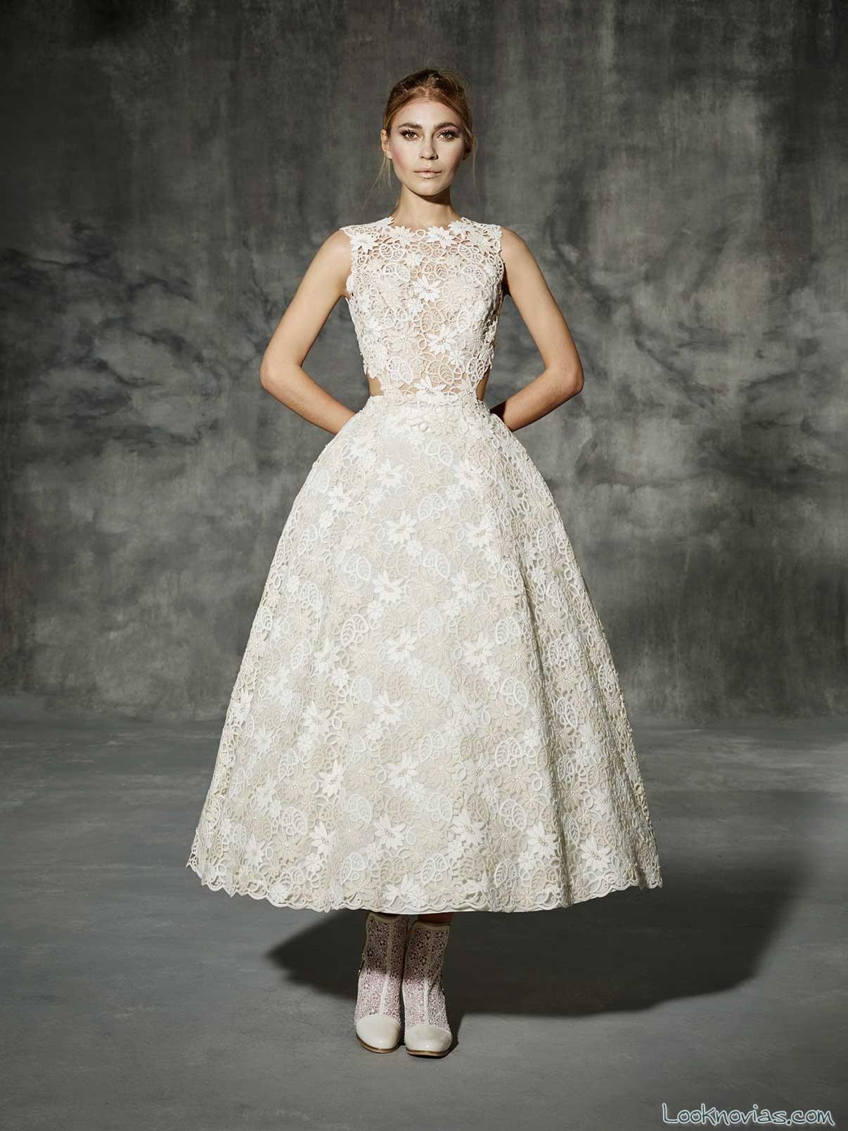 vestidos cortos de novia yolancris