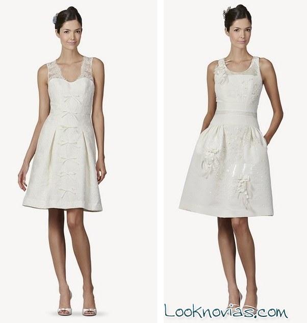 vestidos cortos originales para novias