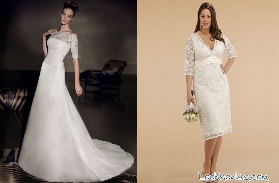 vestidos cortos para novias mayores