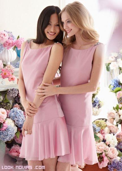 Damas de honor con vestidos vintage