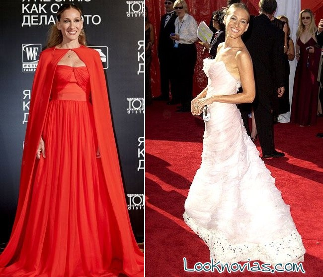 vestidos de colores Sarah Jessica Parker