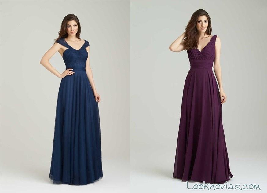 vestidos de damas de honor en color apagado
