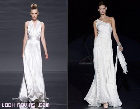 vestidos de novia en seda