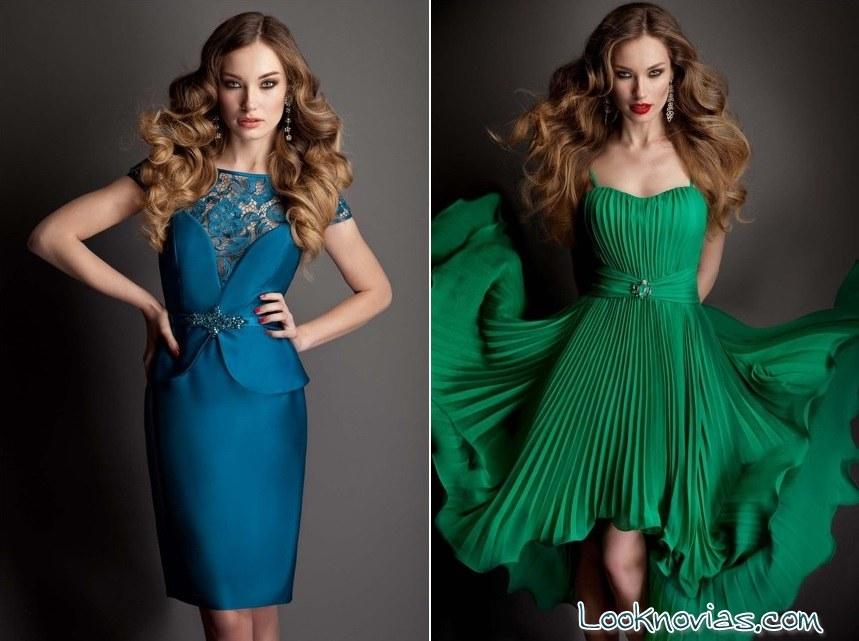 vestidos de fiesta en color Pastore Couture