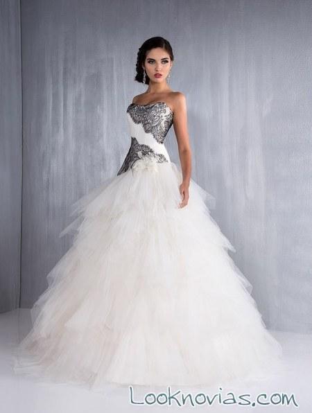 vestidos de novia bicolor aurye mariage