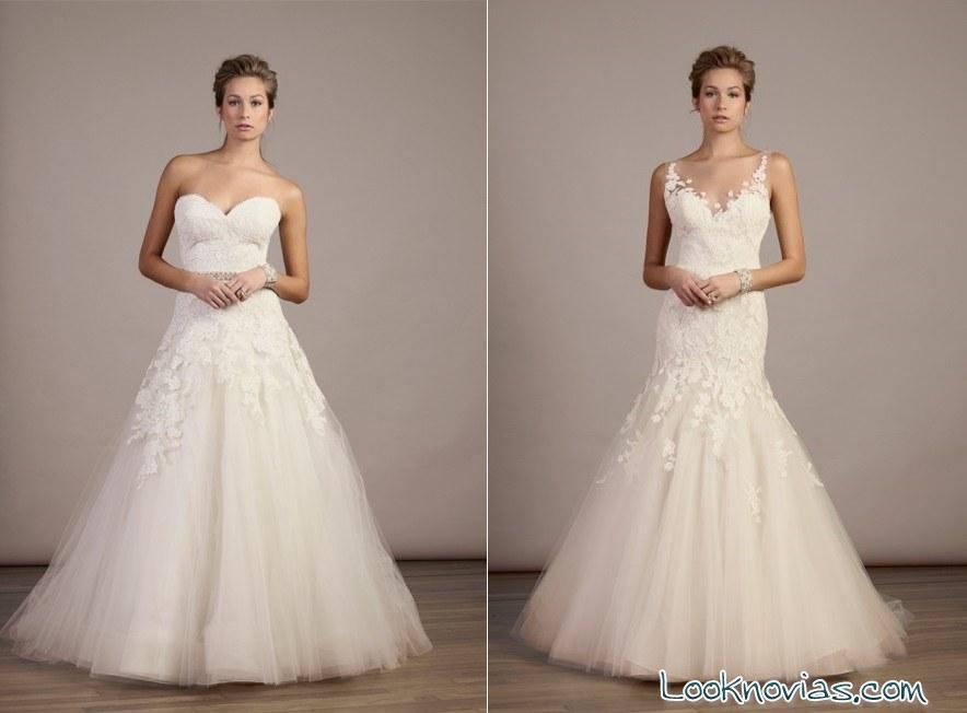 vestidos de novia con bordados de Liancarlo