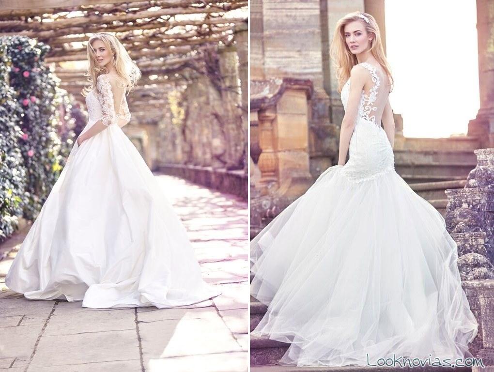 vestidos de novia con escotes traseros de ellis bridals