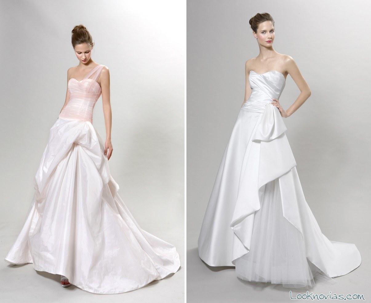 vestidos de novia con falda de corte A