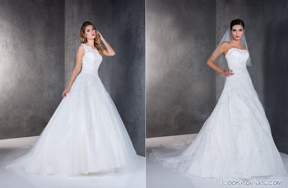 vestidos de novia con falda de volumen
