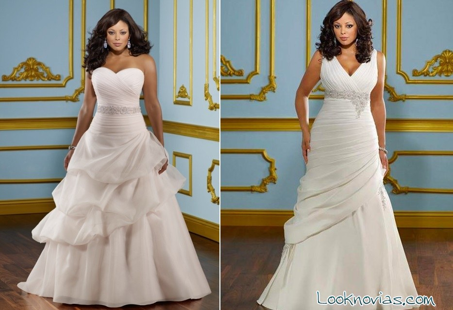 vestidos de novia con faldas abullonadas