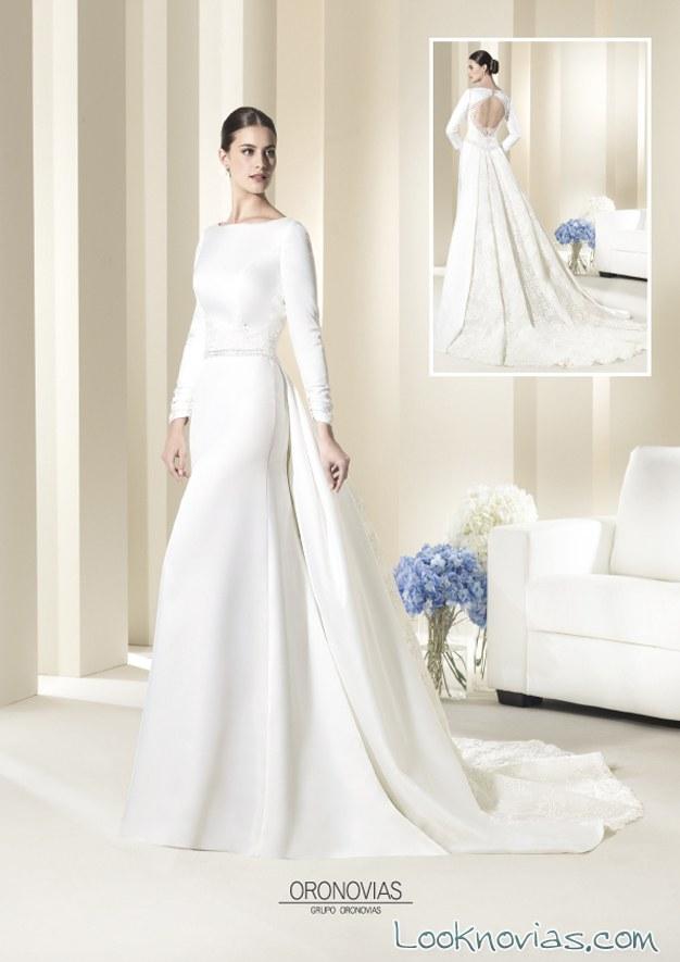 vestidos de novia con manga larga oronovias