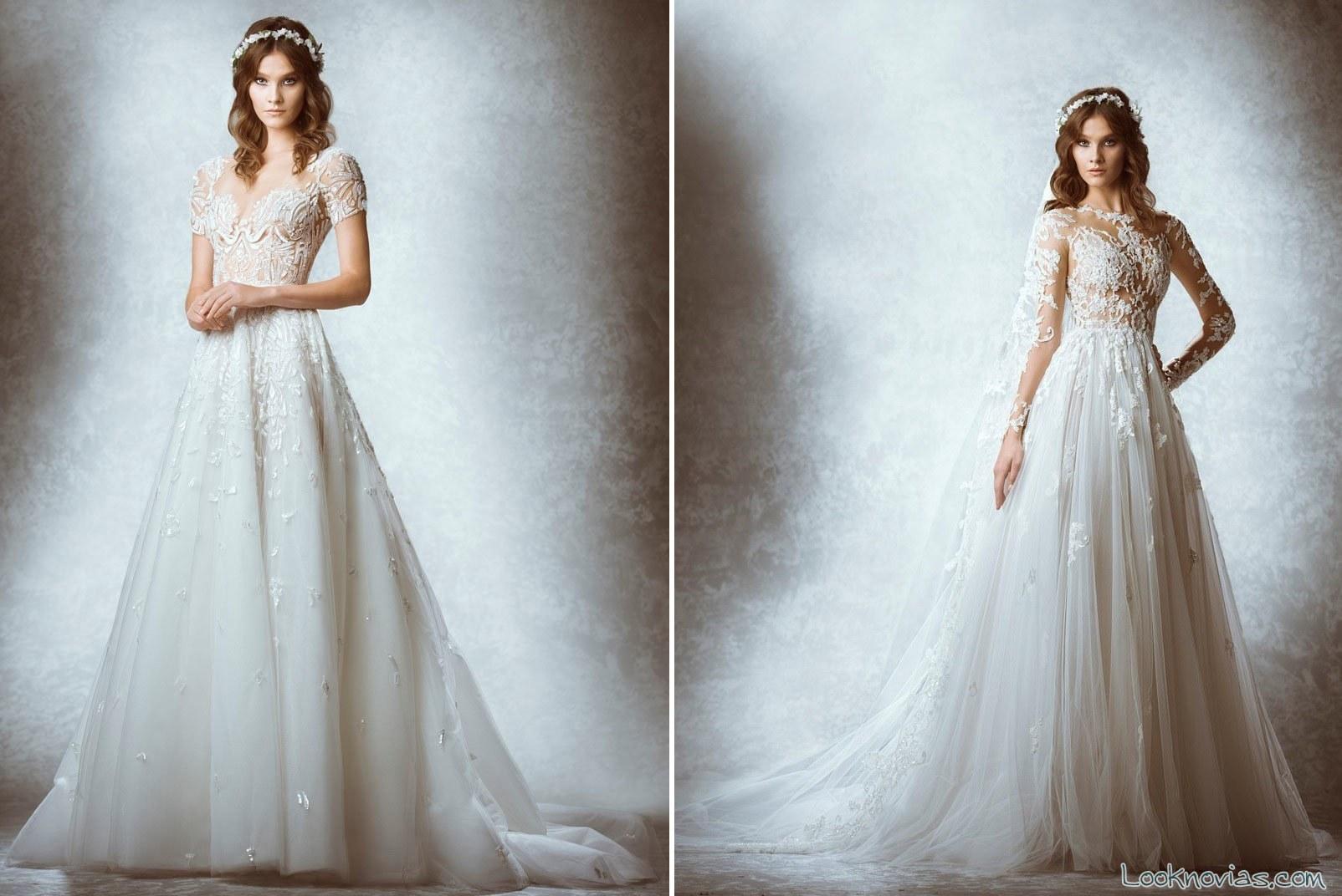 vestidos de novia con transparencias de zuhair murad