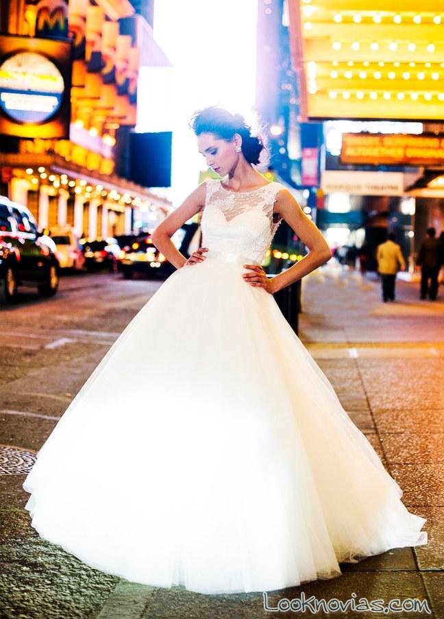 vestidos de novia corte princesa de lázaro