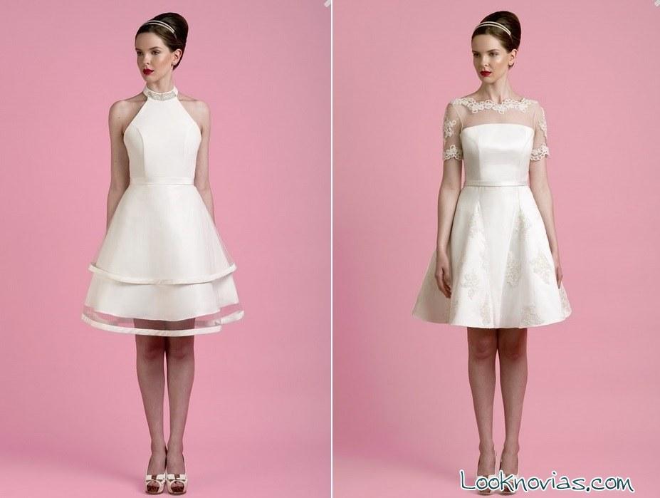 vestidos de novia cortos y elegantes por toby hannah
