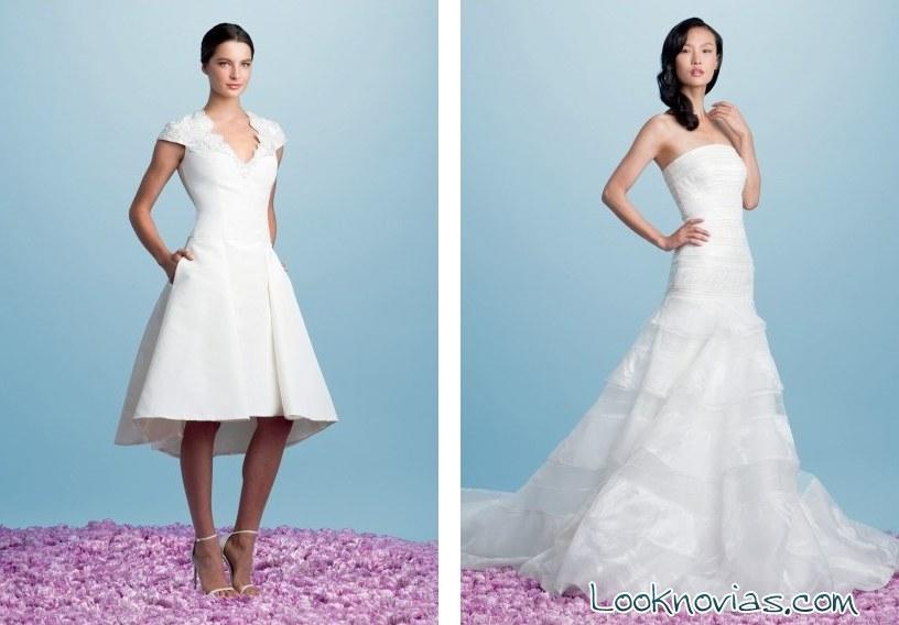 vestidos de novia cortos y largos por Pamella Roland