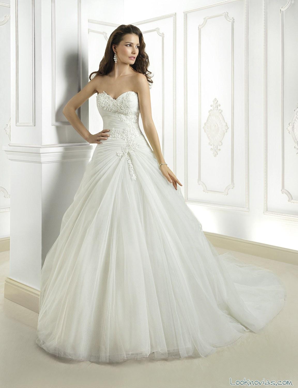 vestidos de novia cosmobella con encajes