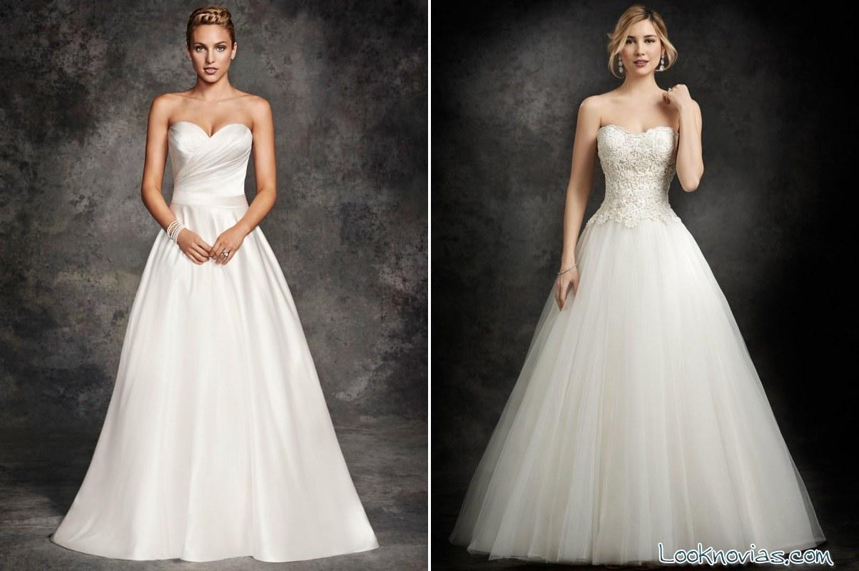 vestidos de novia Ella Rosa con escote