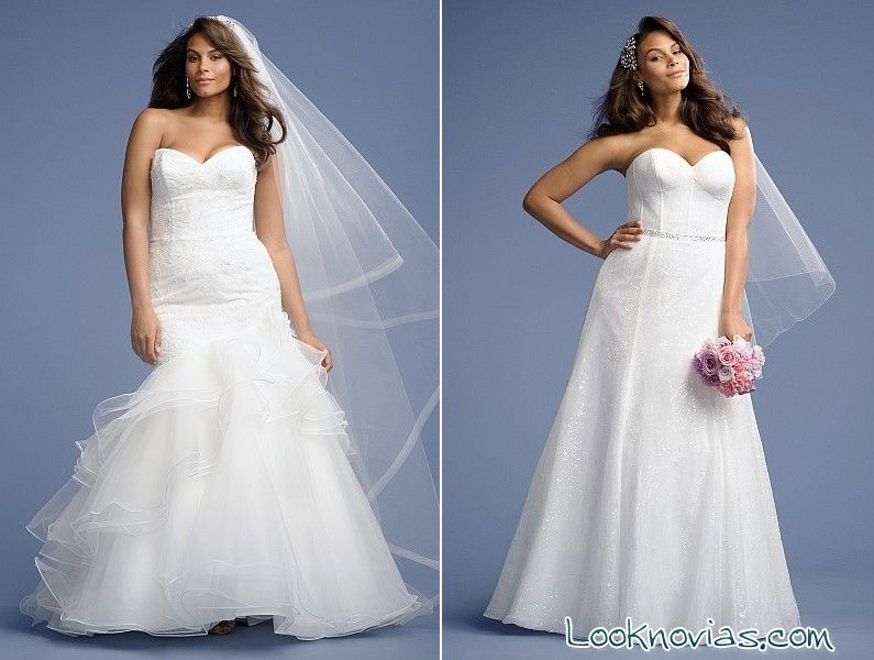 Vestidos de novia en blanco plus size