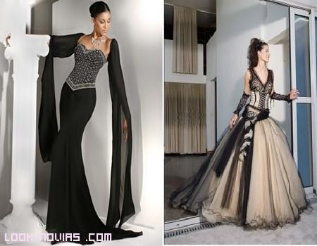 Vestidos negros Vera Wang