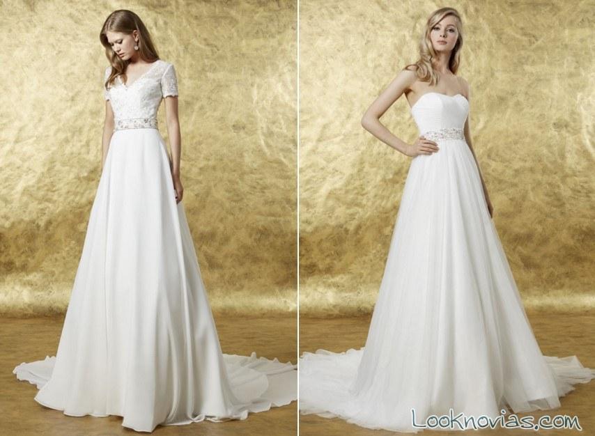 vestidos de novia evasé de raimon bundó