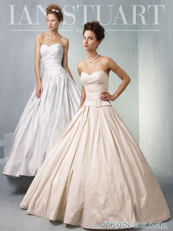 vestidos de novia ian stuart satinados