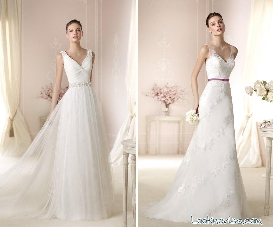 Vestidos de novia largos y blancos de White One