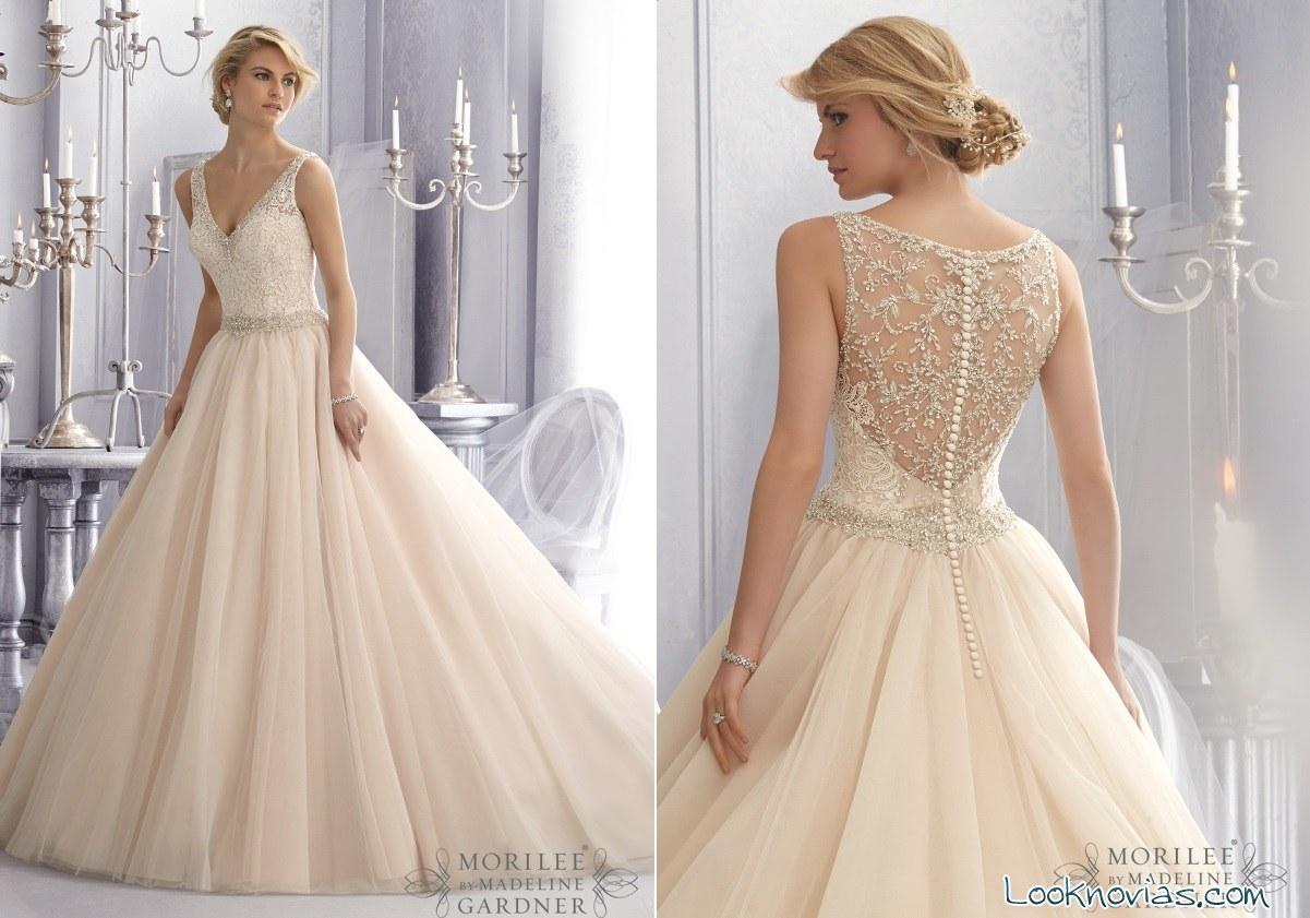vestidos de novia Mori Lee con encajes