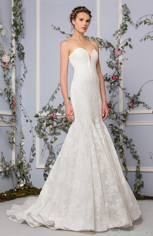 vestidos de novia rectos tony ward corte strapless
