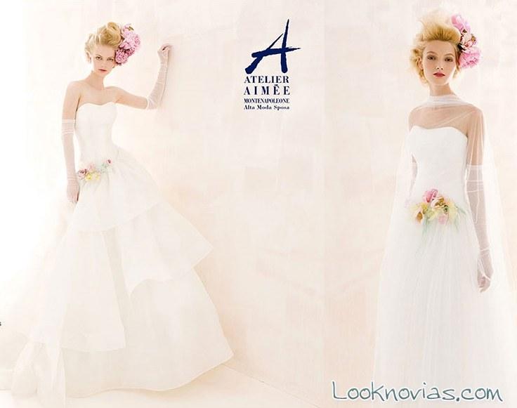 vestidos de novia sencillos de Aimée
