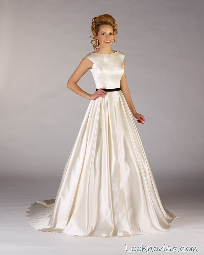 vestidos de novia sencillos de Diane le Grand