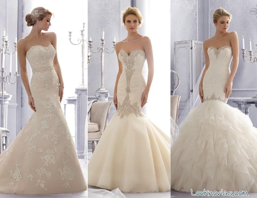vestidos de novia sirena Mori Lee