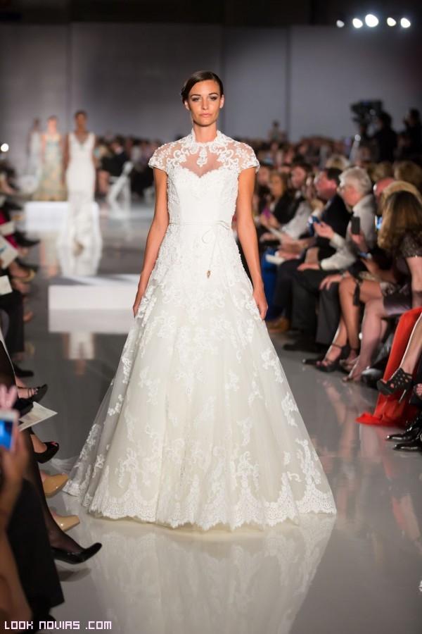 vestidos con mangas para novias
