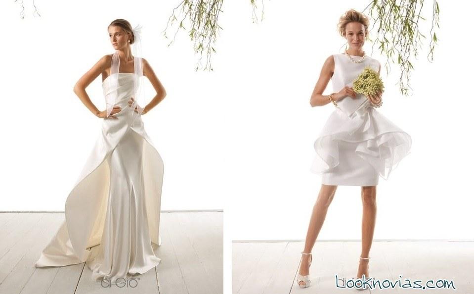 vestidos de novias con ondas Di Gio