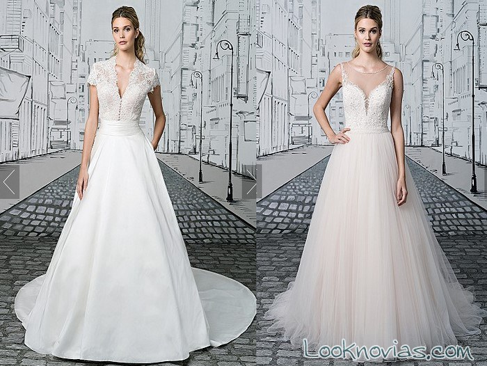 vestidos de princesa para novias 2017