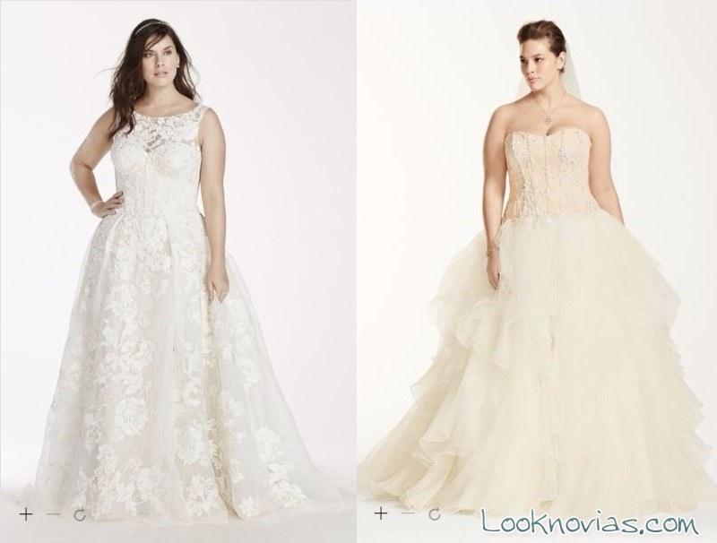 vestidos de tul para novias pluz size