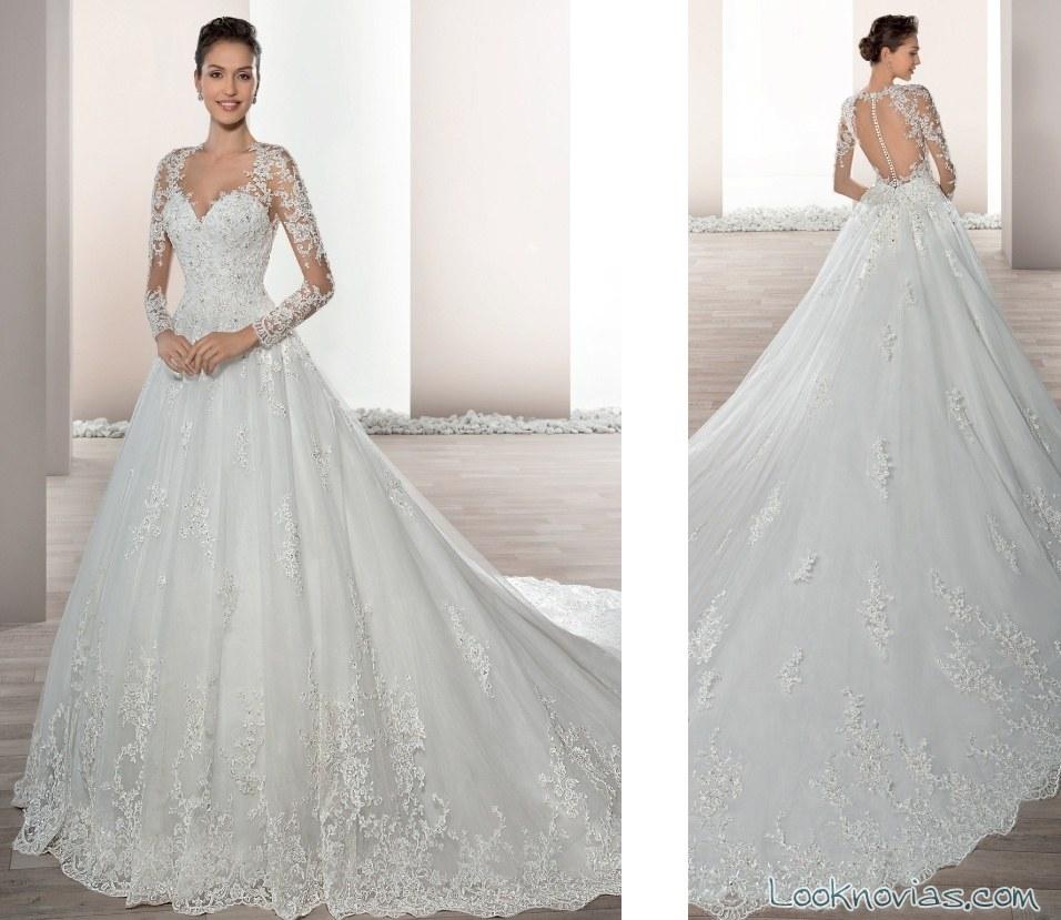 vestidos demetrios princesas de tul blanco