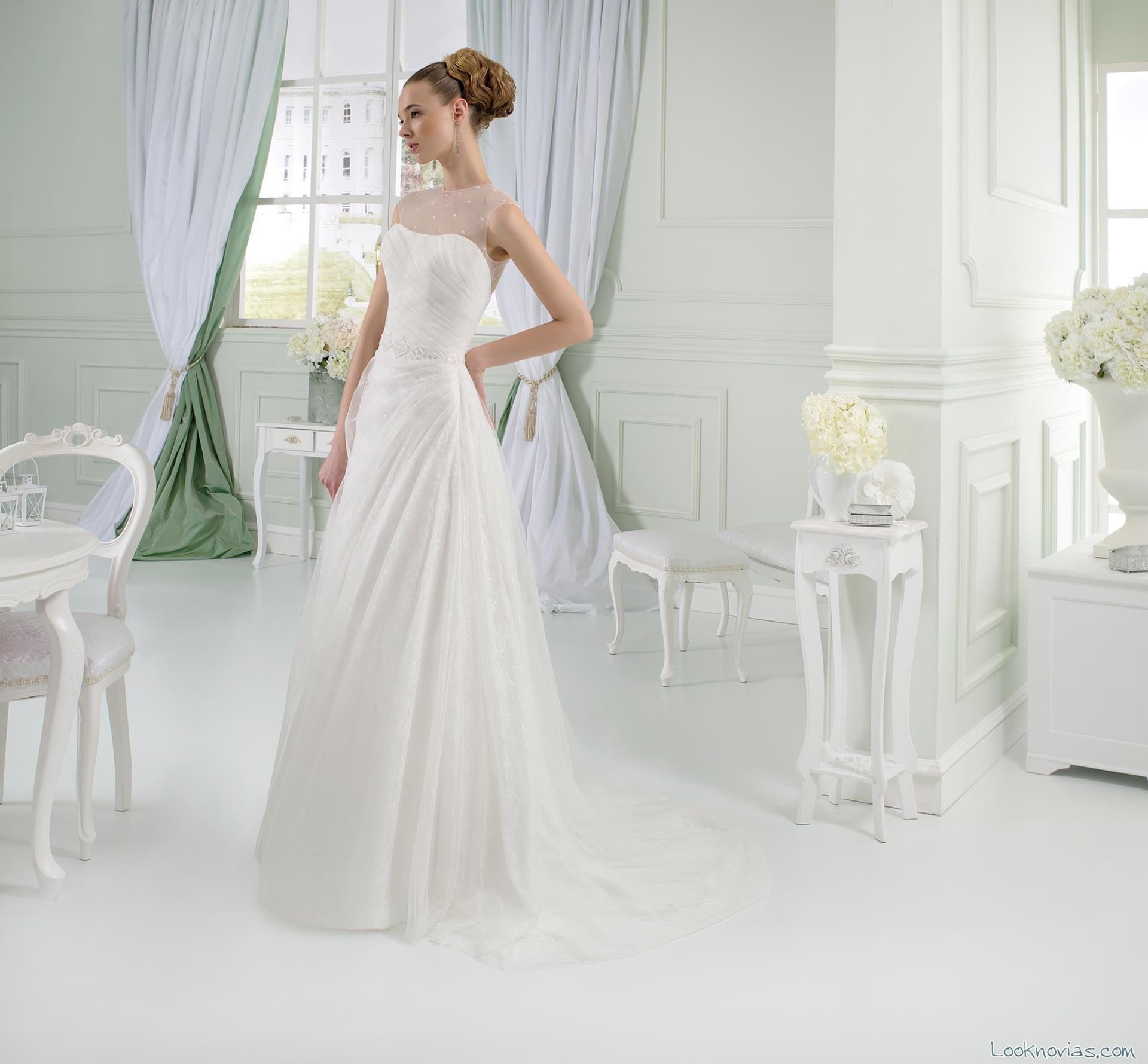 vestidos drapeados para novias 2016