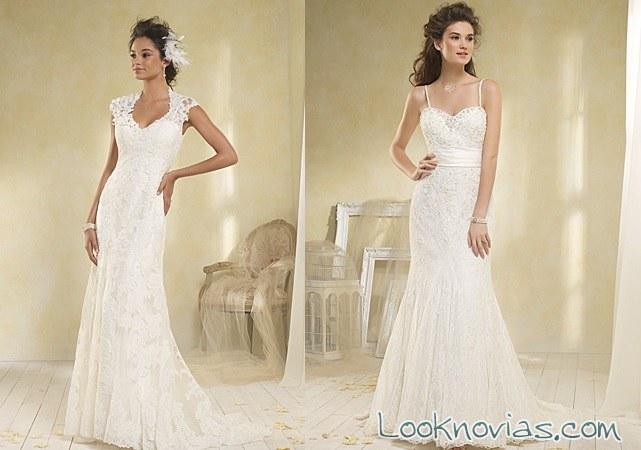 vestidos en color blanco de Alfred Angelo