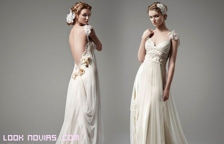 vestidos gasa vintage para novias
