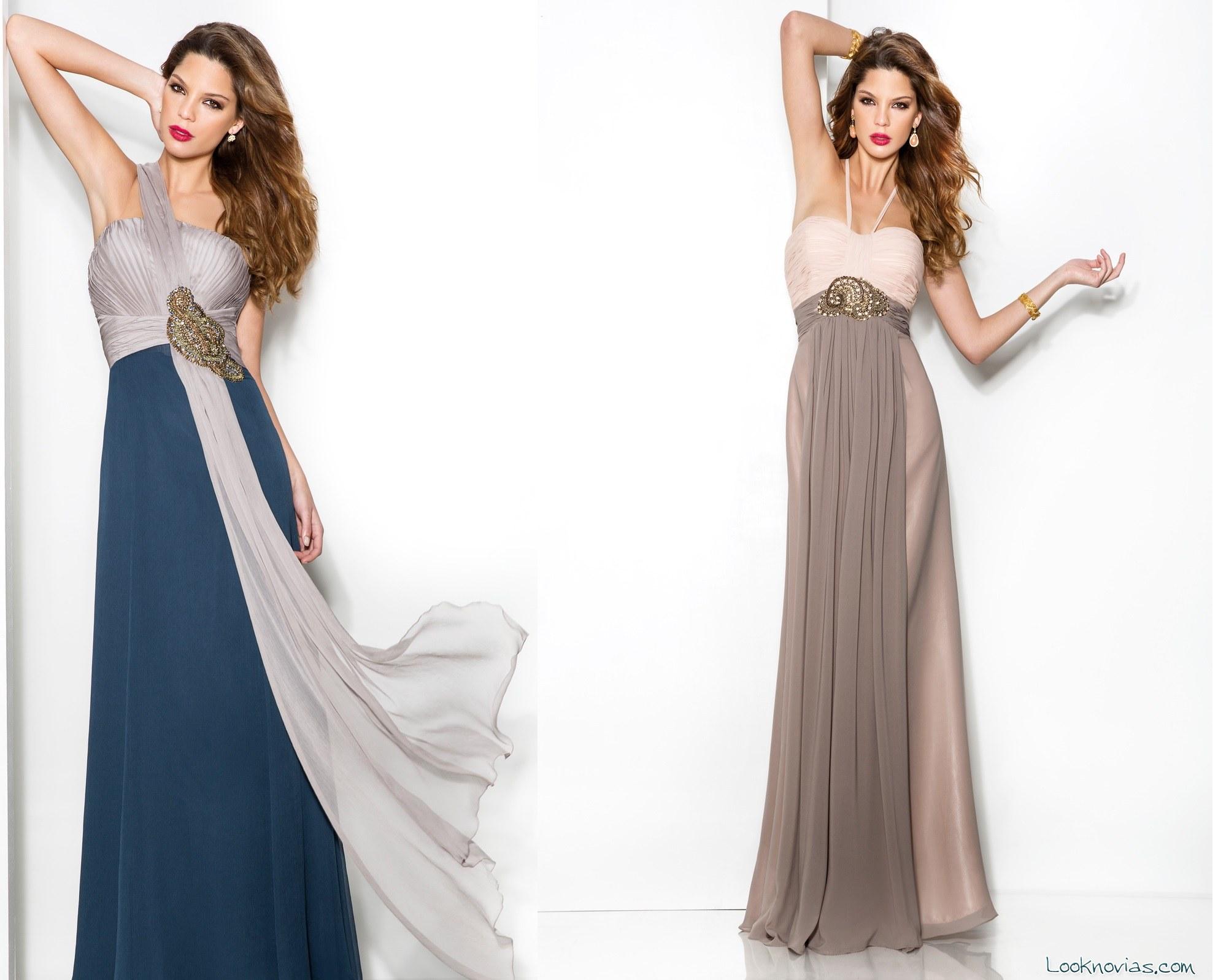 Vestidos largos bicolor cabotine