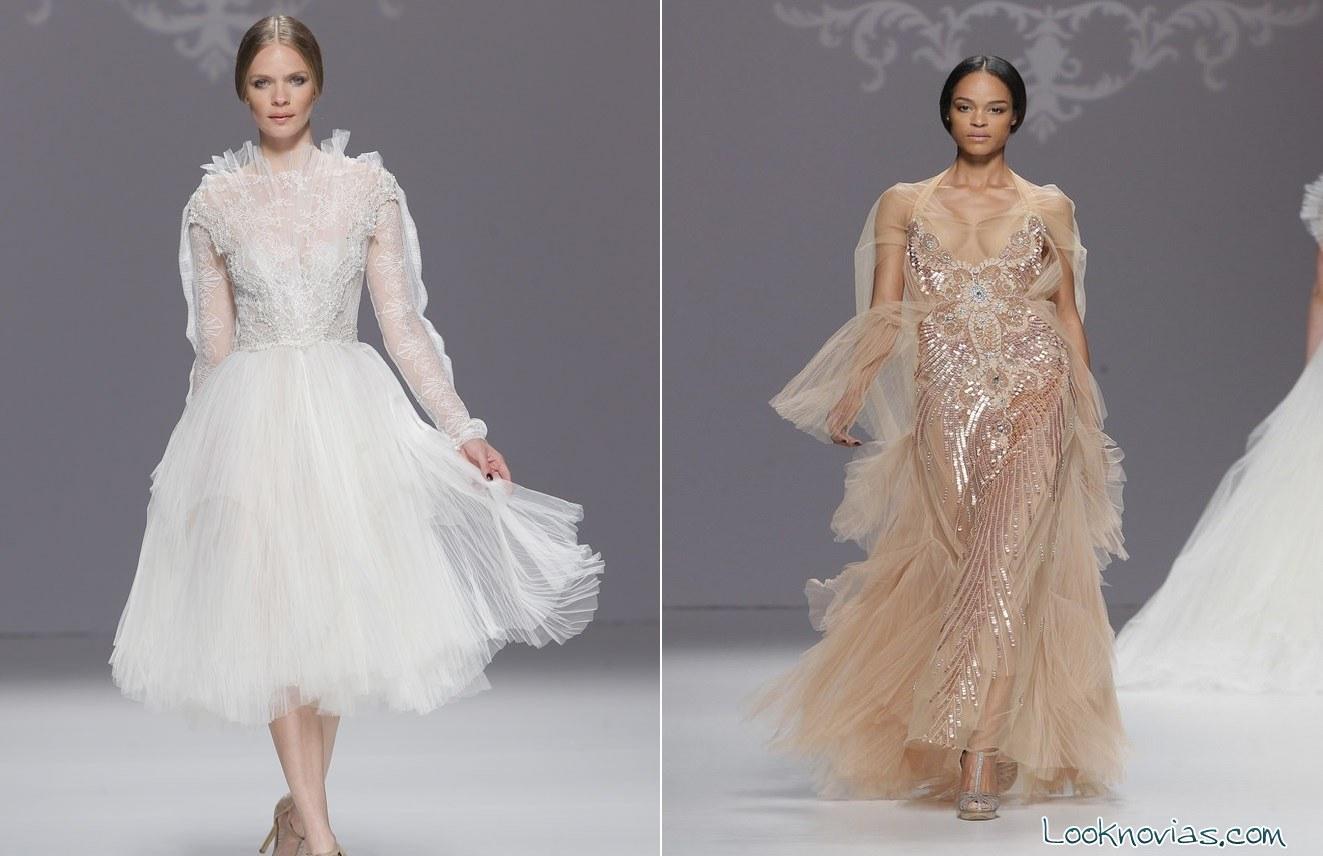 vestidos largos en color para novias