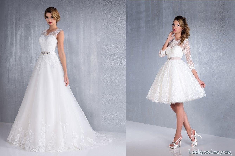 vestidos largos y cortos de aurye mariage
