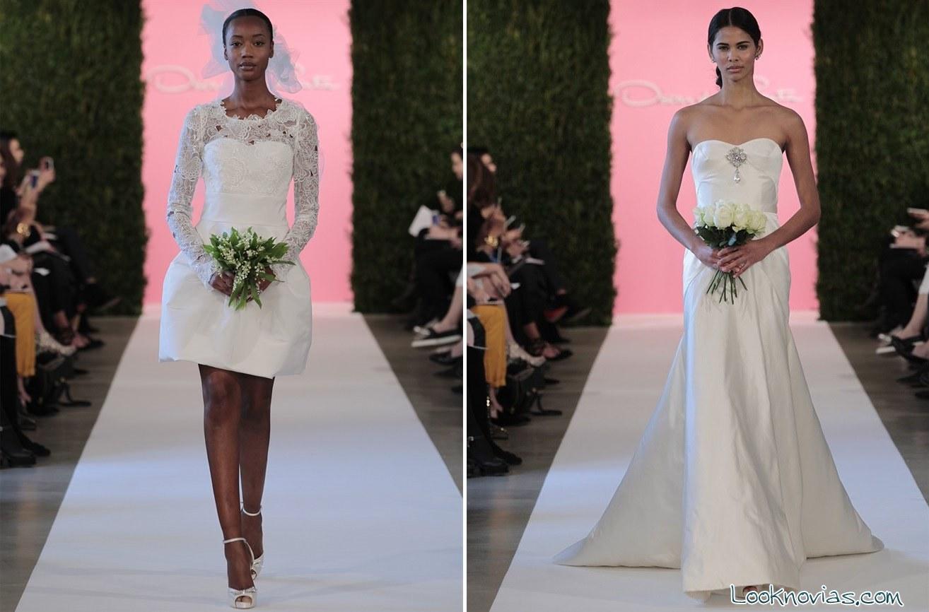 vestidos largos y cortos de novia