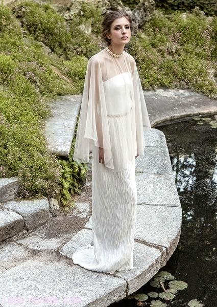 vestidos con capas de gasa